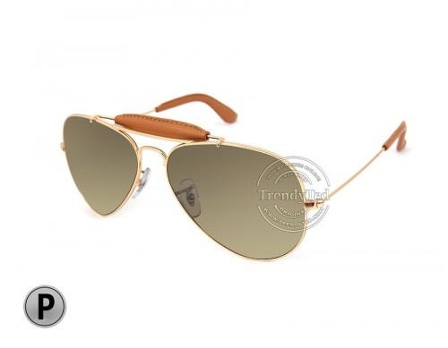 RAYBAN Polarized unisex Sunglasses model RB3422-Q color 001/M9